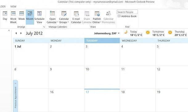 Office 2013 Preview - Outlook Calendar