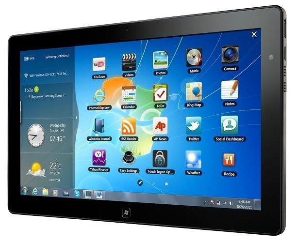 Samsung Series 7 Slate - Touch Launcher