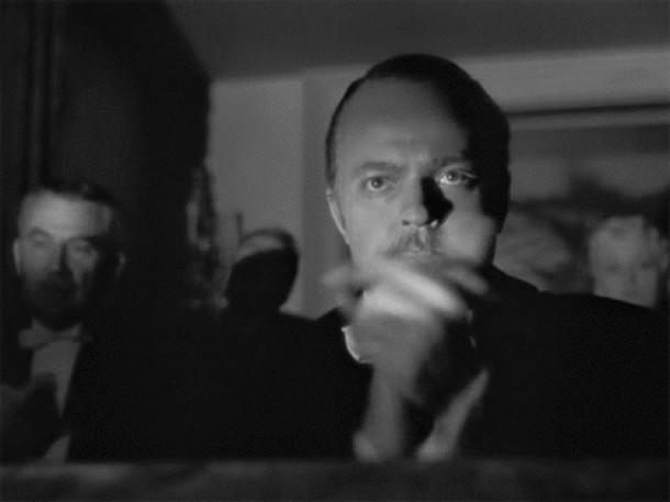 The slow clap in Citizen Kane