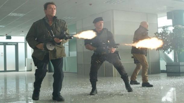 There were probably hundreds of guns disposed in Expendables 2