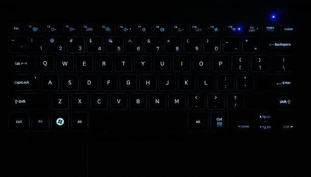 Samsung Series 9 - Backlit Keys
