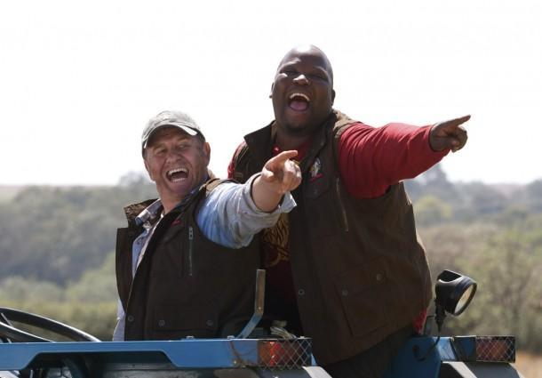 kenneth-nkosi-and Leon Schuster