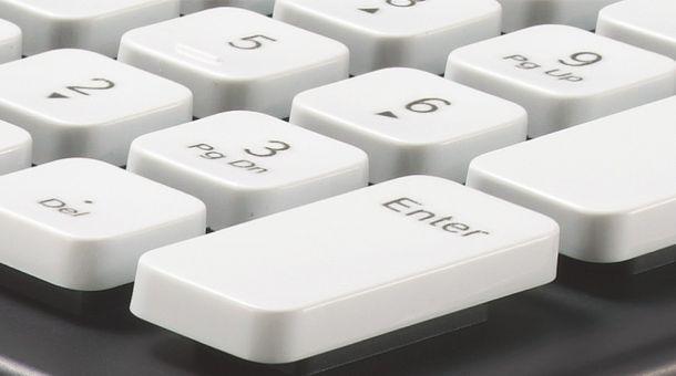 Logitech Washable Keyboard - Zoomed