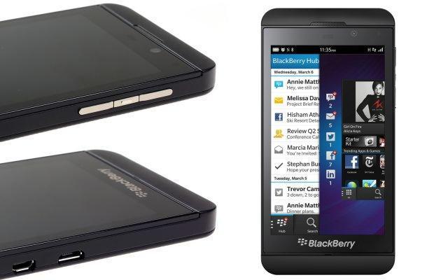 BlackBerry Z10 - Sides