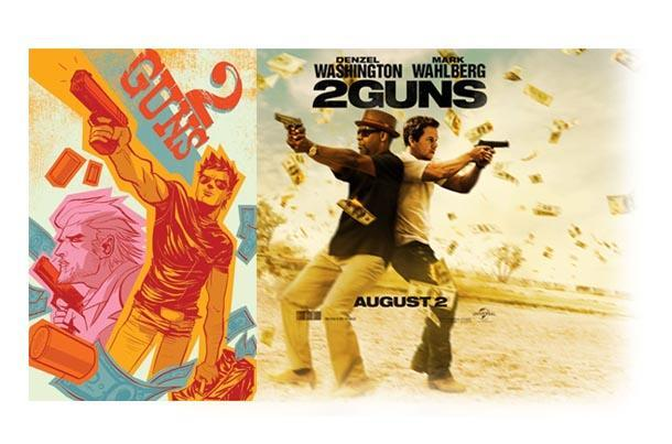 2 guns comic book movie