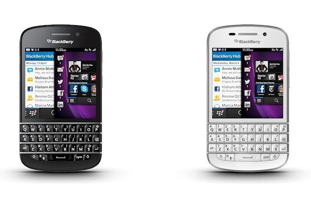 BlackBerry Q10 - Black and White