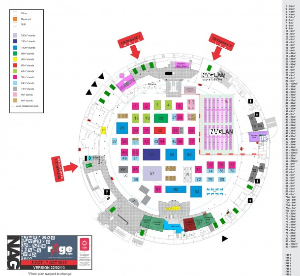 rAge-Provisional Exhibitor List and Floor Plan