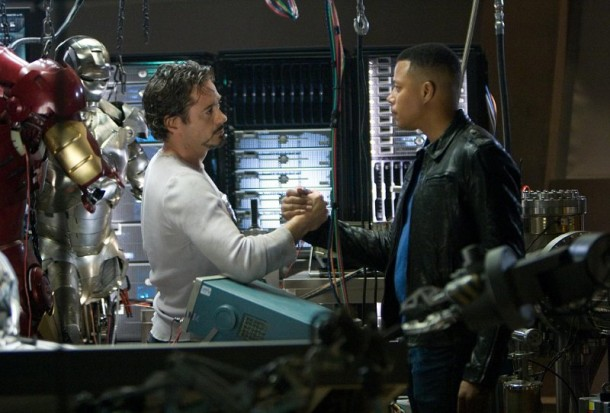 terrence howard blames his iron man 2 cut on robert downey jr 610x413 Terrence Howard Blames Robert Downey Jr. for Being Replaced in Iron Man