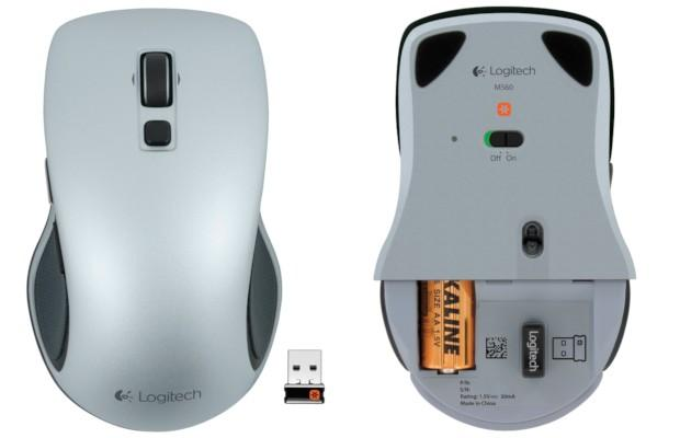 Logitech M560 Wireless Mouse - Top Bottom