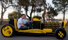 Air-Powered Car Made from Over 500,000 LEGO Bricks