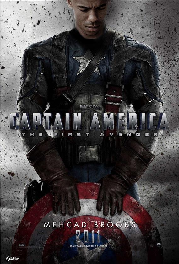 captain america black mehcad brooks black superheros alijah villian black superheroes reimagined film posters full res Is The World Ready For A Black Superman? Film Posters Reimagined with Black Superheroes Movies
