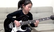 8-year old Girl Effortlessly Shreds on Her Electric Guitar