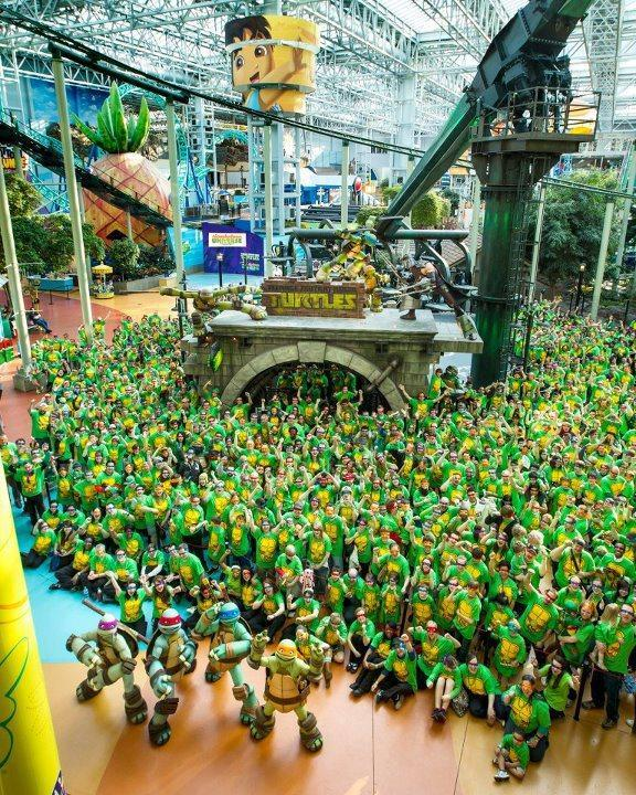 In the Guinness World Records with the most people that gathered in one place dressed as Ninja Turtles