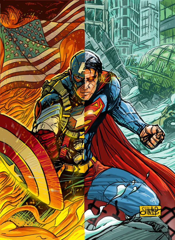 captain america superman 2013 version by phlegias t redback d69oqwl Captain Superman and Me Comic Books