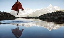 Superheroes Contemplating Their Existence in Nature
