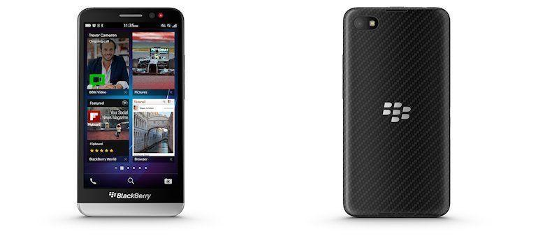 BlackBerry Z30 - Back and Front