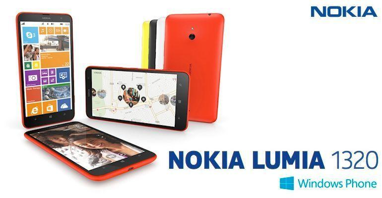 Nokia Lumia 1320 - Header