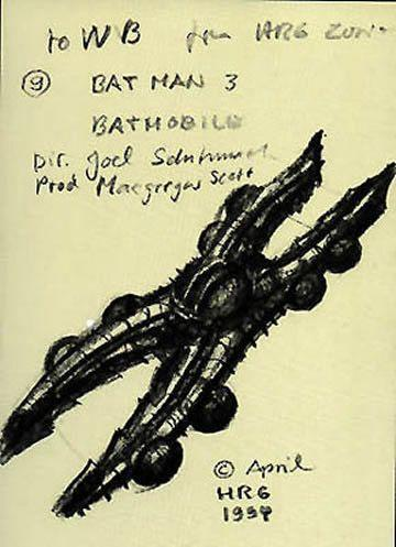 You Won't Believe How Terrible H.R. Giger's Designs For The Batmobile Were