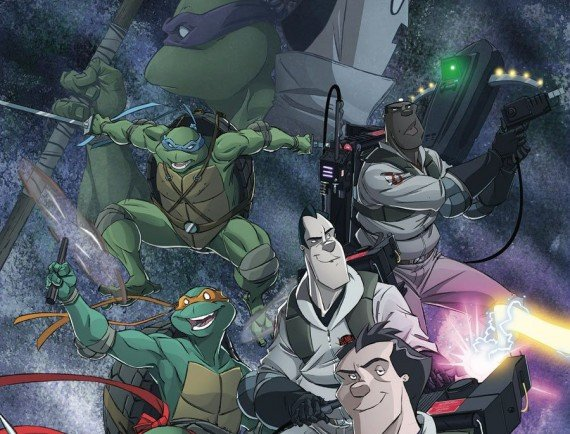 The Teenage Mutant Ninja Turtles Team Up With The Ghostbusters