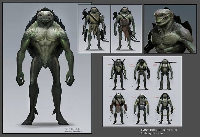 Anthony Francisco's rejected pitch artwork for Teenage Mutant Ninja Turtles
