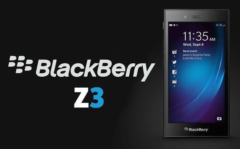 BlackBerry Z3 - Header