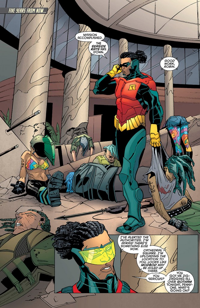 batman and Robin Futures End #1 comic book Review