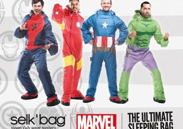 Wearable Marvel Comic Book Superhero Sleeping Bags