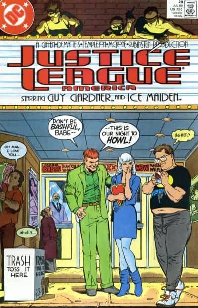 Green Lantern vs. the Black Hand (Justice League America #28, 1989)