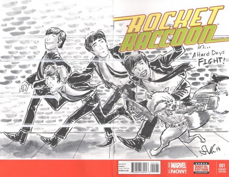 Rocket Raccoon & Groot beatles