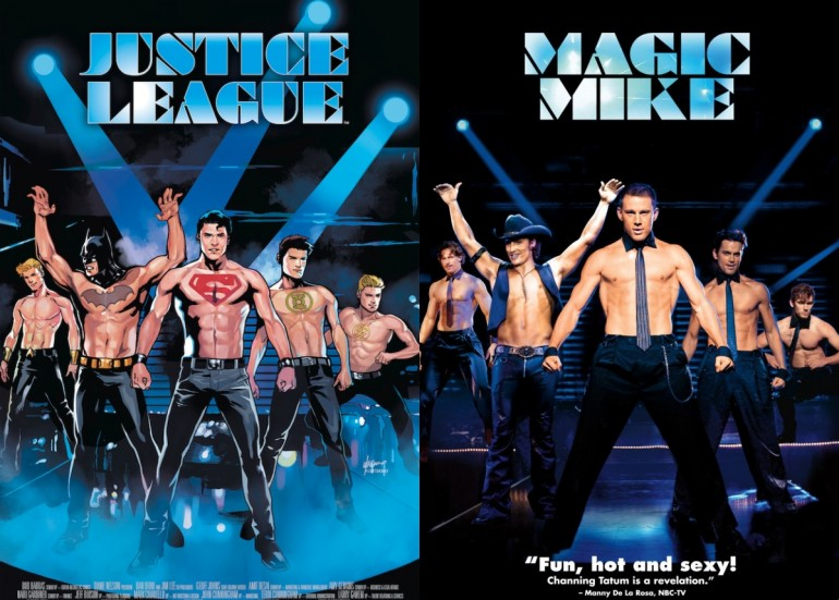 Justice-League-Comic-Magic-Mike-Movie-Cover