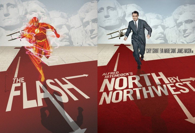 The-Flash-Comic-North-by-Northwest-Movie-Cover