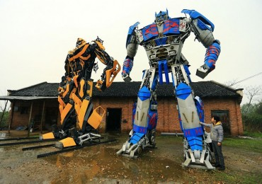 A Father & Son Build Giant Transformers