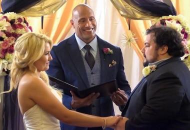The Rock Officiates Surprise Wedding