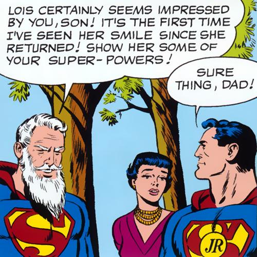 Robin as Superman Jr