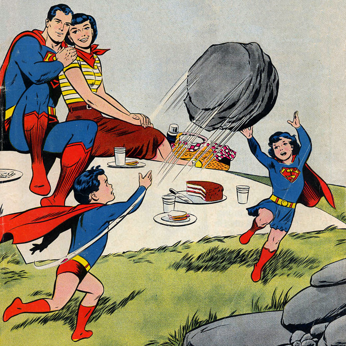 Larry and Carole, with Lois Lane in Superman's Girl Friend Lois Lane #23 (February 1961)