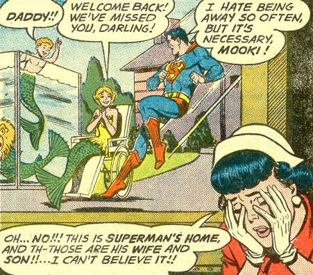 A son, with Mooki (a mermaid) in Superman's Girl Friend Lois Lane #30 (January 1962)