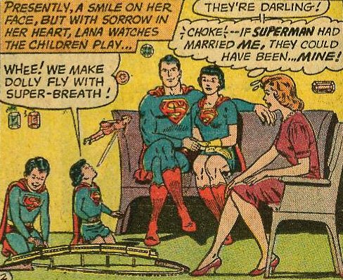 Larry and Carole, with Lois Lane in Superman's Girl Friend Lois Lane #36 (October 1962)