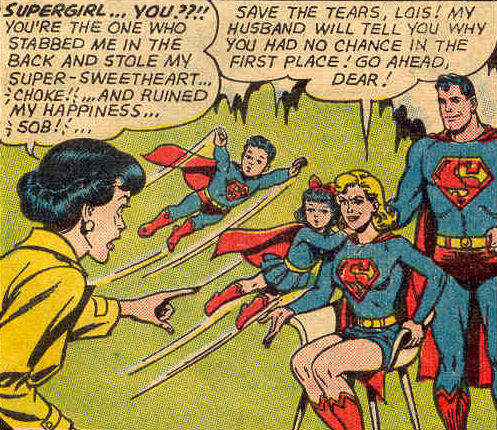 Twins, with Supergirl in Superman's Girl Friend Lois Lane #55 (February 1965)