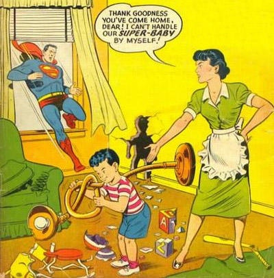 A son with Lois Lane in Showcase #9 (August 1957)
