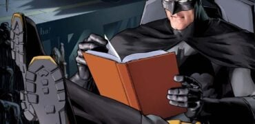 batman reading a book