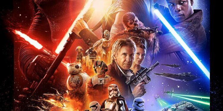 star wars force awakens official poster Star Wars: The Force Awakens Review Movies