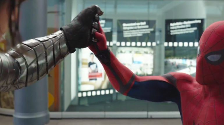 Tom Holland's spider-man winter soldier fight