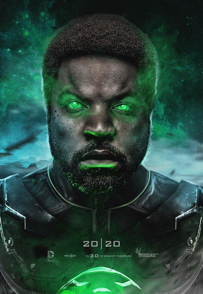 ice cube as green lantern