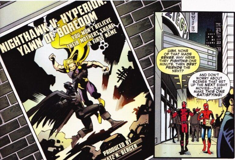Deadpool and Spider-Man Take A Shot At Batman V Superman
