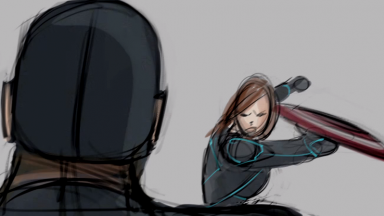 deleted scene Black Widow And Captain America Fight