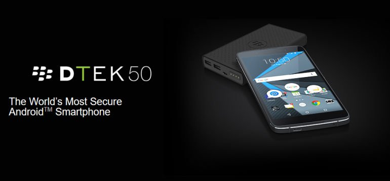 BlackBerry Announces the DTEK50: World's Most Secure Smartphone