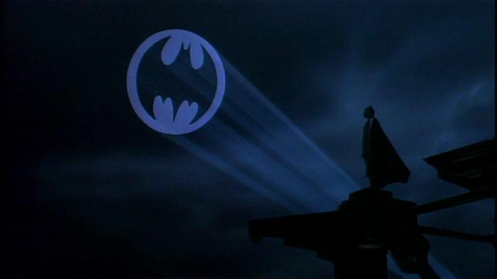 civilian operates Bat signal