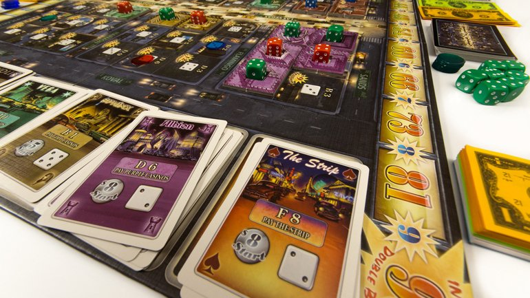 Lords of Vegas Board Game Review - It's not the richest, but the smartest that wins.
