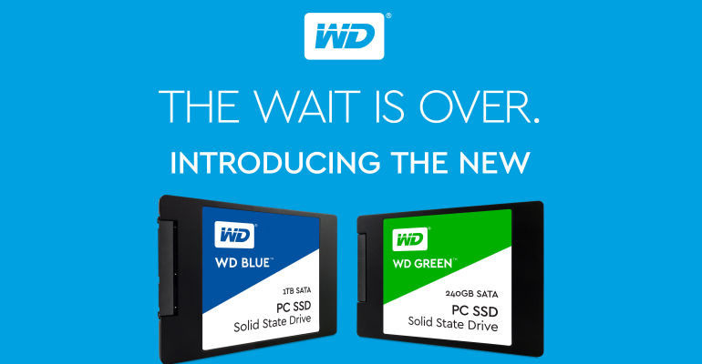 Western Digital Launches Their New Line of WD Blue and WD Green SSDs