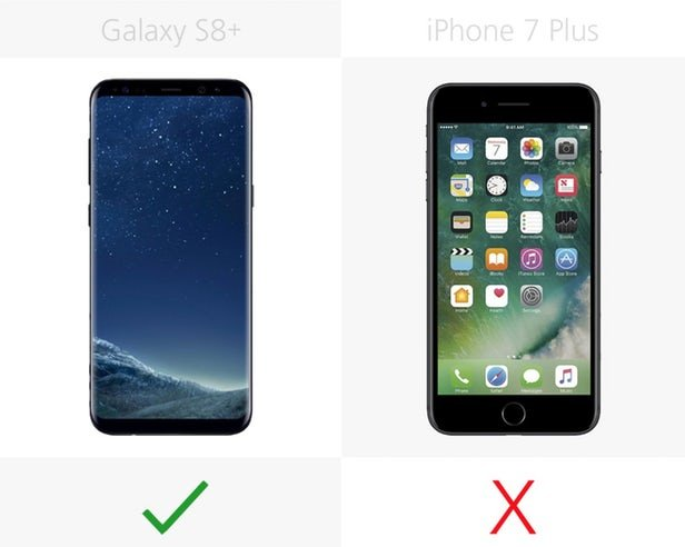 s8 vs iphone 7